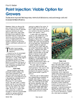 Point Injection: Viable Option for Growers