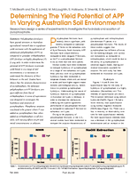 Determining The Yield Potential of APP In Varying Australian Soil Environments