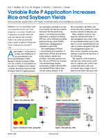 Variable Rate P Application Increases Rice and Soybean Yields