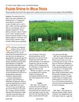 Fluids Shine in Rice Trials