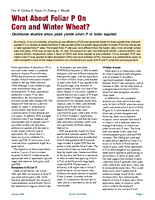 What About Foliar P On Corn and Winter Wheat?