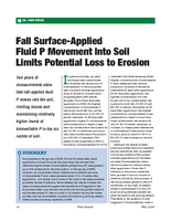 Fall Surface-Applied Fluid P Movement Into Soil Limits Potential Loss to Erosion