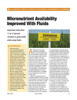 Micronutrient Availability Improved With Fluids