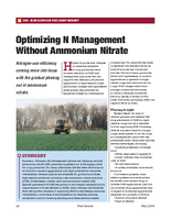 Optimizing N Management Without Ammonium Nitrate