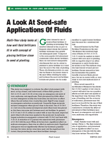 A Look At Seed-safe Applications Of Fluids