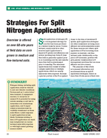 Strategies For Split Nitrogen Applications