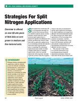 Strategies For Split Nitrogen Applications