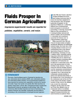 Fluids Prosper In German Agriculture