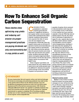 How To Enhance Soil Organic Carbon Sequestration