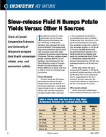 Slow-release Fluid N Bumps Potato Yields Versus Other N Sources