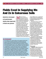 Fluids Excel In Supplying Mn And Zn In Calcareous Soils