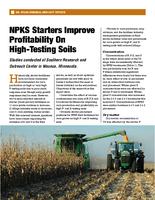NPKS Starters Improve Profitability On High-Testing Soils