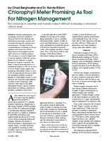 Chlorophyll Meter Promising As Tool For Nitrogen Management