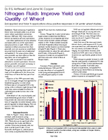 Nitrogen Fluids Improve Yield and Quality of Wheat