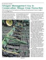Nitrogen Management Key In Conservation Tillage Crop Production