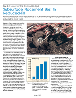 Subsurface Placement Best In Reduced-Till