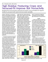 High Residue Producing Crops and Reduced-Till Improve Soil Productivity