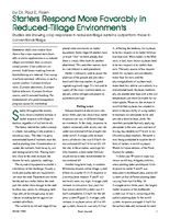 Starters Respond More Favorably in Reduced-Tillage Environments