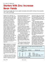 Starters With Zinc Increase Bean Yields