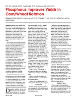 Phosphorus Improves Yields In Corn/Wheat Rotation