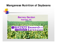 Manganese Nutrition of Soybeans