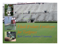 Fluid (Foliar) Fertilizers for Turfgrass