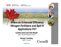 Where do Enhanced Efficiency Nitrogen Fertilizers and Split N Applications Fit?