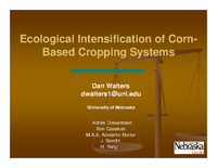 Ecological Intensification of Corn-Based Cropping Systems