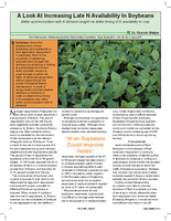 A Look At Increasing Late N Availability In Soybeans