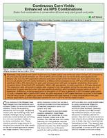 Continuous Corn Yields Enhanced via NPS Combinations