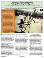 Chemigation Uniformity Critical Through Microirrigation System