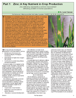 Part I, Zinc: A Key Nutrient in Crop Production