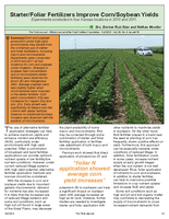Starter/Foliar Fertilizers Improve Corn/Soybean Yields