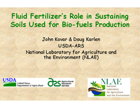 Fluid Fertilizer's Role in Sustaining Soils Used for Bio-fuels Production