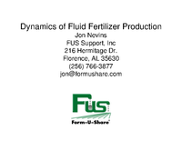 Dynamics of Fluid Fertilizer Production