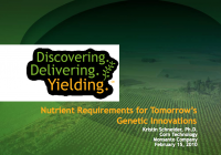 Nutrient Requirements For Tomorrow's Genetic Innovations