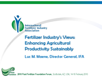 Industry Fertilizer Update
