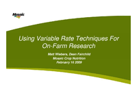 Using Variable Rate Techniques For On-Farm Research