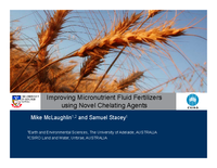 Improving Micronutrient Fluid Fertilizers using Novel Chelating Agents