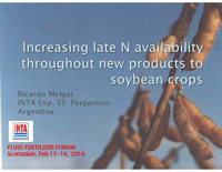 Increasing Late Season N Availability for Soybeans