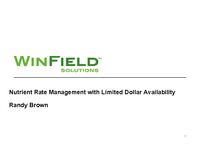 Nutrient Rate Management with Limited Dollar Availability