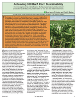 Achieving 300 Bu/A Corn Sustainability
