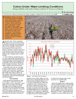 Cotton Under Water-Limiting Conditions