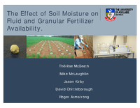 The Effect of Soil Moisture on Residual Fluid and Granular Phosphorus Availability