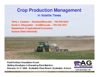 Crop Production Management