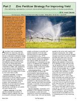 Part 2: Zinc Fertilizer Strategy For Improving Yield
