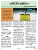 Specific Gravity and pH Variability Affect UAN Blending