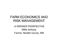 Farm Economics and Risk Management