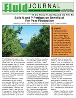 Split N and P Fertigation Beneficial For Pear Production
