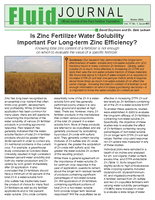 Is Zinc Fertilizer Water Solubility Important For Long-term Zinc Efficiency?